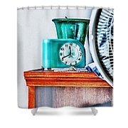 Big Ben Moon Beam Shower Curtain by Bob Orsillo