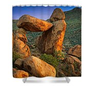 Big Bend Window Rock Shower Curtain