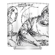 Big Billy And His Friend Shower Curtain