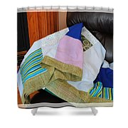 Big Blocks Patchwork Quilt Shower Curtain