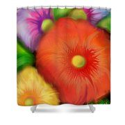 Big Blooms Shower Curtain