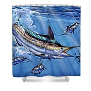 Big Blue And Tuna Shower Curtain by Terry Fox