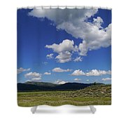 Big Blue Sky  Shower Curtain