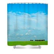 Big Blue Texas Sky Shower Curtain