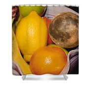 Big Bowl Of Fruit Shower Curtain
