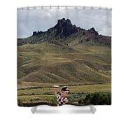 Big Boy Ranch Shower Curtain