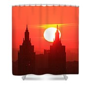 Big Bright Sun Shower Curtain