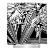 Big Bunk Theory Shower Curtain