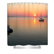 Big Chill Sunset Shower Curtain