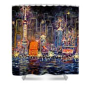 Big City Lights Shower Curtain