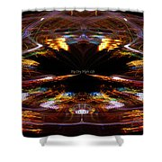 Big City Night Life Shower Curtain