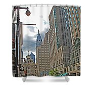 Big City Streets Shower Curtain