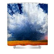 Big Cloud In A Field Shower Curtain