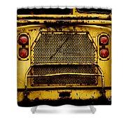 Big Dump Truck Grille Shower Curtain