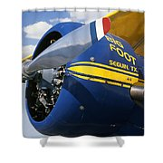 Big Foot Biplane Shower Curtain