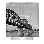 Big Four Bridge Bw Shower Curtain