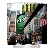 Big Green M And M Shower Curtain