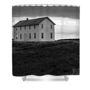 Big House In A Storm Shower Curtain