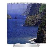 Big Island Cliffs  Shower Curtain