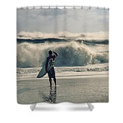 Big Kahuna Shower Curtain by Laura Fasulo