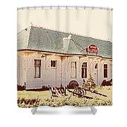 Big L Railroad Station Shower Curtain