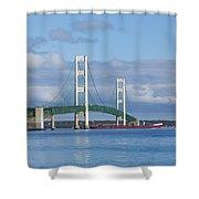 Big Mackinac Bridge 65 Shower Curtain