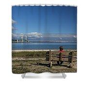 Big Mackinac Bridge 69 Shower Curtain