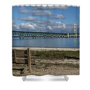 Big Mackinac Bridge 72 Shower Curtain
