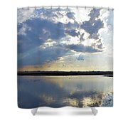 Big Marsh Sunset Shower Curtain