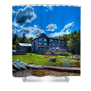 Big Moose Inn - Eagle Bay New York Shower Curtain
