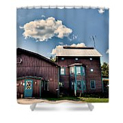 Big Moose Inn Located In Eagle Bay Ny Shower Curtain
