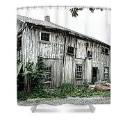 Big Old Barn - Rustic - Agricultural Buildings Shower Curtain by Gary Heller
