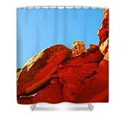 Big Orange Rock Shower Curtain