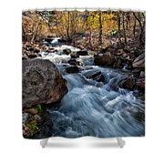 Big Pine Creek Shower Curtain by Cat Connor