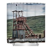 Big Pit Colliery Shower Curtain
