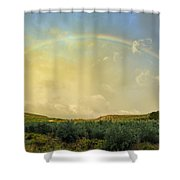 Big Rainbow Shower Curtain