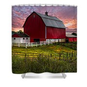 Big Red At Sunset Shower Curtain