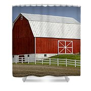 Big Red Barn In West Michigan Shower Curtain