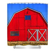 Big Red Barn Shower Curtain