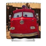 Big Red Carsland Shower Curtain