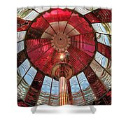 Big Red Fresnel Shower Curtain