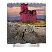 Big Red Lighthouse By Holland Michigan Shower Curtain