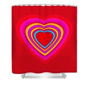 Big Red Love Shower Curtain