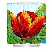 Big Red Tulip Shower Curtain