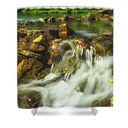 Big River  Waterfall And Dam Shower Curtain