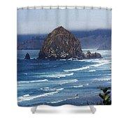 Big Rock On The Oregon Coast Shower Curtain