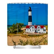 Big Sable Light On The Shore Shower Curtain