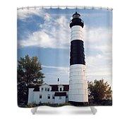 Big Sable Lighthouse Shower Curtain