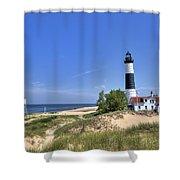 Big Sable Point Light Shower Curtain
