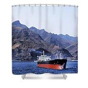 Big Ship Non Atlantic Ocean Shower Curtain